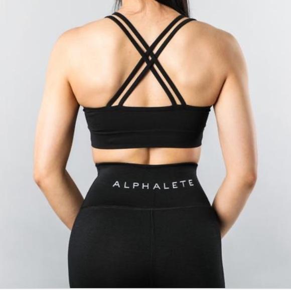 Alphalete Black Revival Bra